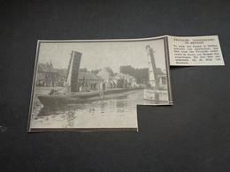 """Origineel Knipsel ( 3463 ) Uit Tijdschrift """" Ons Volk """"  1933  :  Onderzeeër  Humbeek - Vieux Papiers"""
