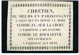 LES MURAILLES  DE LA REVOLUTION  FRANCAISE  CHRETIEN   JE MEURS  EN PARDONNANT  CPM TBE 34 - Evènements