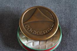 Médaille En Bronze,Cockerill ,Marchienne - Athus,signé C.De Rouck 1971,diamètre 70 Mm. - Professionnels / De Société