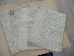 Maine De Chalus Dossier De 4 Aveux Ségneuriaux De Biens Sis à Juvigné Et à La Templerie D'Echerbay XVIIIème - Autographes