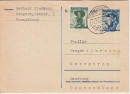 Österreich - 45 G Trachten Ganszache + Zusatz Bregenz - Kressbron 1952 - Ganzsachen