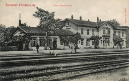 Souvenir D'Andrinople - Edirne - La Gare De Andrinople - Station Railway - Ligne Chemin De Fer - Turquie Turkey - Turquie