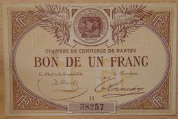 NANTES ( 44  ) 1 Franc Chambre De Commerce De Nantes Série H - Chambre De Commerce