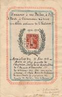 J83 - Travail Art Populaire - Timbre Oblitéré Le 11 Novembre 1918 Pour L'Armistice - Décor Main - Granmaitre à Auxerre - Frankreich
