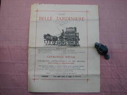 BELLE  JARDINIERE  Rare Catalogue Vétements Métiers Hommes  8 Pages Non Daté (estimation 1890/1900) - He