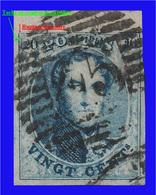COB N° 10A - TB - 4 Belles Marges Dont 1 Bord De Feuille + 2 Défauts D'Impression. - 1858-1862 Medallions (9/12)