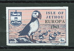Jethou - Grande Bretagne émission Locale 1961 Y&T N°(1a)- Michel N°(?) *** - 6p Macareux - Non Dentelé - Emissions Locales