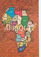 Afrique - Couleurs D'Afrique - Carte De L'Afrique - Carte Géographique - Etat Coups Visible - Voir Scans Recto-Verso - Cartes Postales