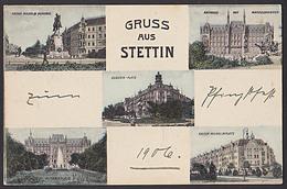 Stettin Szczecin Gruss Aus  Von 1906, Rathaus Kaiser Wilhelm-Platz Manzelbrunnen  Augusta-Platz - Pommern