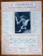 SPARTITO MUSICALE - C.CHAMINADE CATALOGUE COMPLET DES COMPOSITIONS POUR PIANO SCUL -  Ed. ENOCH & C. LONDON - Sonstige