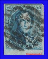 COB N° 11 TB - 4 Belles Marges Dont 1 Bord De Feuille + Défaut D'Impression (Prolongation Du Cadre En Bas à Droite) - 1858-1862 Medallions (9/12)