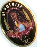 Ancienne étiquette F19 BIERE FRANCAISE - BRASSERIE DE BENIFTONTAINE - SAINT POLOISE - MALT BLOND - Bière
