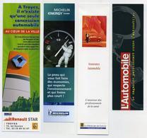 Lot De 4 Marque-page Thème Automobile : Renault Troyes, Pneus Michelin, Assurance Voiture, Magazine - Voir 2 Images - Marque-Pages