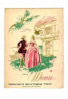MENU Du Mariage De Melle BRUNET Et Mr QUINZAT Christian Le 14 Avril 1956 - Menus
