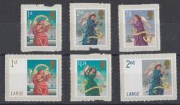 GRAN BRETAGNA 2007 CHRISTMAS SET SELF ADHESIVE  MNH  SG 2789/94 - Unused Stamps