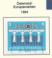 Österreich 1984  Mi.Nr. 1772 , EUROPA CEPT Brücken 25 Jahre Europäische Konferenz - Gestempelt / Fine Used / (o) - Europa-CEPT