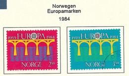 Norwegen / Norge 1984  Mi.Nr. 904/05 , EUROPA CEPT Brücken 25 Jahre Europäische Konferenz - Gestempelt / Fine Used / (o) - Europa-CEPT