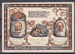 Notgeld - 50 Pfennig - Ruhla (a) - [11] Lokale Uitgaven