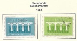 Niederlande 1984  Mi.Nr. 1251/52 , EUROPA CEPT Brücken 25 Jahre Europäische Konferenz - Gestempelt / Fine Used / (o) - Europa-CEPT