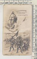 Santini - Image Pieuse Holy Card  Militari In Guerra Sacratissimo Cuore Di Gesu' 1945 - Devotion Images