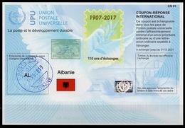 ALBANIE ALBANIA Is43 20171023 AA InternationalReply Coupon Reponse Antwortschein IRC IASHologram o TIRANE 15.05.19 - Albania
