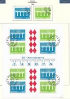 Monaco 1984  Mi.Nr. Block 26+1622/23 , EUROPA CEPT Brücken 25 Jahre Europäische Konferenz - Gestempelt / Fine Used / (o) - Europa-CEPT