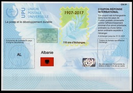 ALBANIE ALBANIA Is43 20171023 AA InternationalReply Coupon Reponse Antwortschein IRC IASHologram MINT ** - Albania