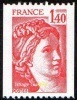 France Roulette N° 2104 ** Sabine De Gandon Le 1f40 Rouge - Coil Stamps