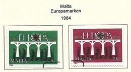 Malta 1984  Mi.Nr. 704 /705 , EUROPA CEPT Brücken 25 Jahre Europäische Konferenz - Gestempelt / Fine Used / (o) - Europa-CEPT