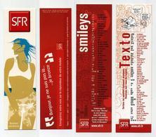 Lot De 2 Marque-page SFR - Bonnes Vacances, Je Bronze, Catalogue Smileys Et Abréviations Texto... - Marque-Pages