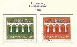 Luxembourg 1984  Mi.Nr. 1098 /1099 , EUROPA CEPT Brücken 25 Jahre Europäische Konferenz - Gestempelt / Fine Used / (o) - Europa-CEPT
