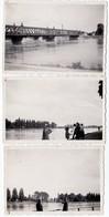 3 Photos Originales Strasbourg : Le Pont Ferroviaire De Kehl Un 16.08.1933 - Lieux