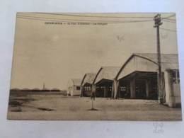 CPA MAROC - CASABLANCA - Le Parc D'aviation, Les Hangars - Casablanca