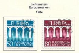 Liechtenstein 1984  Mi.Nr. 837 /838 , EUROPA CEPT Brücken 25 Jahre Europäische Konferenz - Gestempelt / Fine Used / (o) - Europa-CEPT