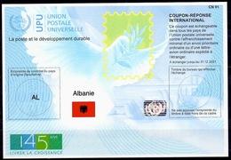 ALBANIE ALBANIA Is45 20190726 AA 145 ANS Int. Reply Coupon Reponse Antwortschein IRC IASHologram MINT ** - Albania