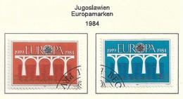 Jugoslawien 1984  Mi.Nr. 2046 /2047 , EUROPA CEPT Brücken 25 Jahre Europäische Konferenz - Gestempelt / Fine Used / (o) - Europa-CEPT