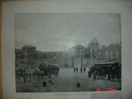 Lamina-Paris-1900--1, Entree Du Chateau De Versailles---Le Parterre D'Eau - Ancianas (antes De 1900)