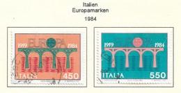 Italien  1984  Mi.Nr. 1886 /1887 , EUROPA CEPT Brücken 25 Jahre Europäische Konferenz - Gestempelt / Fine Used / (o) - Europa-CEPT