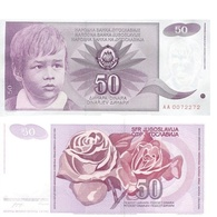 Billet Yugoslavie 50 Dinar - Yougoslavie
