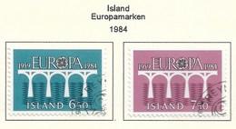 Island  1984  Mi.Nr. 614 / 615 , EUROPA CEPT Brücken 25 Jahre Europäische Konferenz - Gestempelt / Fine Used / (o) - Europa-CEPT