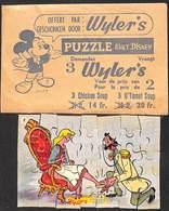 Puzzle Walt Disney Complet Wyler + Enveloppe : 13.5 X 9 Cm Cendrillon - Vieux Papiers