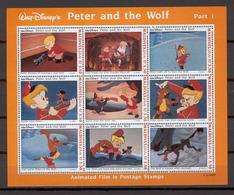 Disney Maldives 1993 Peter And The Wolf Sheetlet #1 MNH - Disney