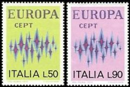 (!) Timbres EUROPA CEPT ITALIE De 1972 N° Y&t  1099/1100 Neuf(s) ** MNH Luxe - Europa-CEPT