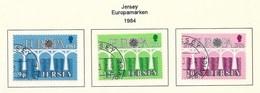 GB - Jersey  1984  Mi.Nr. 320 / 322 , EUROPA CEPT Brücken 25 Jahre Europäische Konferenz - Gestempelt / Fine Used / (o) - Europa-CEPT