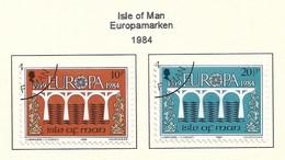 GB - Insel Man  1984  Mi.Nr. 261/262 , EUROPA CEPT Brücken 25 Jahre Europäische Konferenz - Gestempelt / Fine Used / (o) - Europa-CEPT