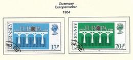 GB - Guernsey  1984  Mi.Nr. 286 /287 , EUROPA CEPT Brücken 25 Jahre Europäische Konferenz - Gestempelt / Fine Used / (o) - Europa-CEPT