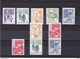 SUEDE 1977 NOËL Yvert 985-990 + 985a + 988a NEUF** MNH - Schweden