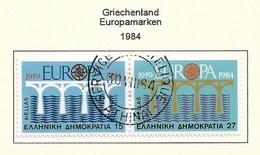 Griechenland  1984  Mi.Nr. 1555/1556 , EUROPA CEPT Brücken 25 Jahre Europäische Konferenz - Gestempelt / Fine Used / (o) - Europa-CEPT