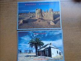 Australia / 2 Cards Of Western Australia: South Of Geraldton + Limestone Formations In Pinnacle Desert -> Unwritten - Australie