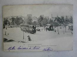 TRAMWAY - LEVALLOIS PERRET - Boulevard Bineau - Station Des Tramways (animée) - Tramways